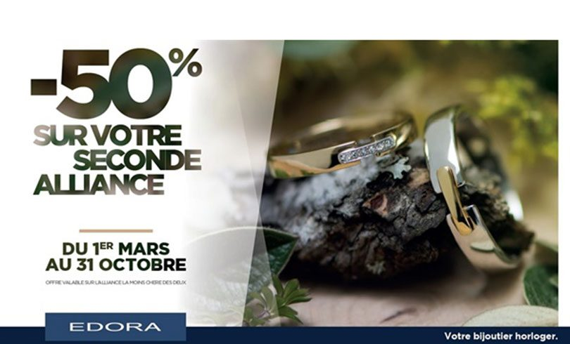 -50% sur votre seconde alliance