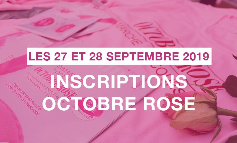 Inscriptions Octobre Rose 🌷