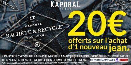 Kaporal rachète et recycle ton jean - Saint-Sebastien Nancy