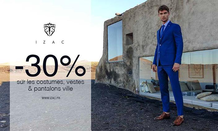 Izac : -30% sur les costumes