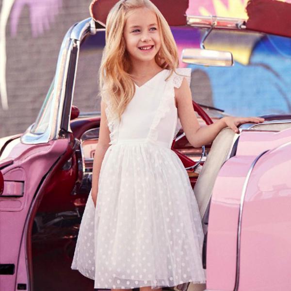 robe nafnaf blanche enfant selection mariage2