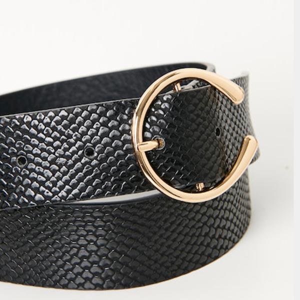 ceinture camaieu noir pastel