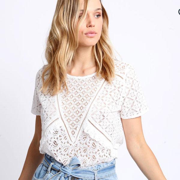 tshirt blanc pimkie pastel