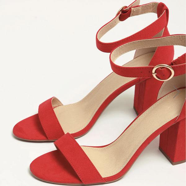 chaussure talon rouge Pimkie Lisa