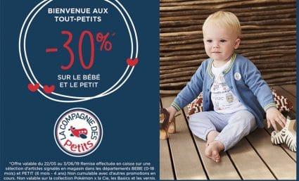 -30% chez La Compagnie des Petits - Saint-Sebastien Nancy