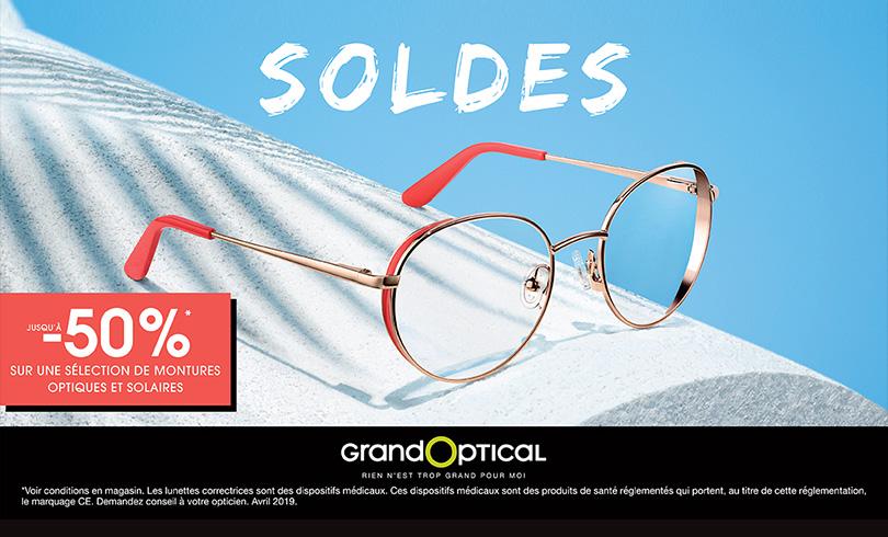 Chez Grand Optical, c'est bientôt les soldes !