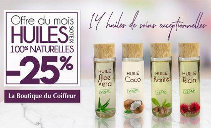 L'offre du mois : les huiles ! - Saint-Sebastien Nancy