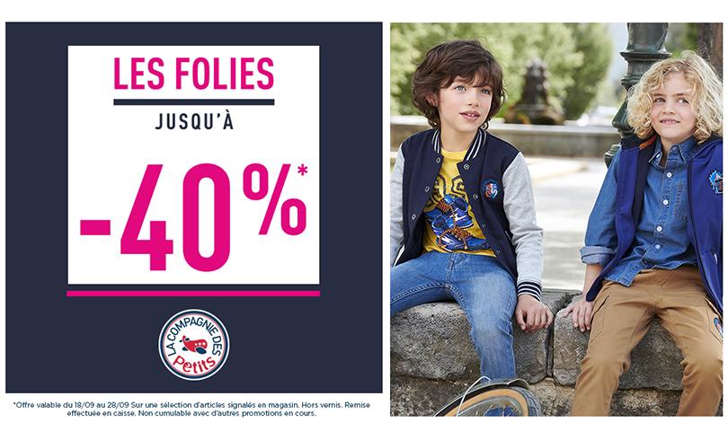 -40% sur une sélection d'articles chez La Compagnie des Petits