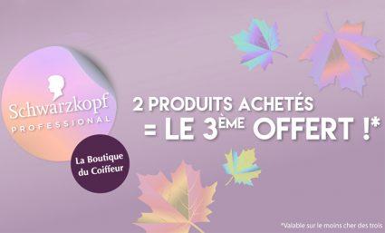 2 produits achetés = le 3e offert chez La Boutique du Coiffeur - Saint-Sebastien Nancy
