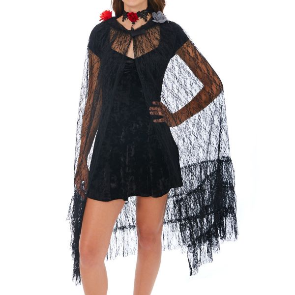 Cape dentelle noire Halloween Claire's