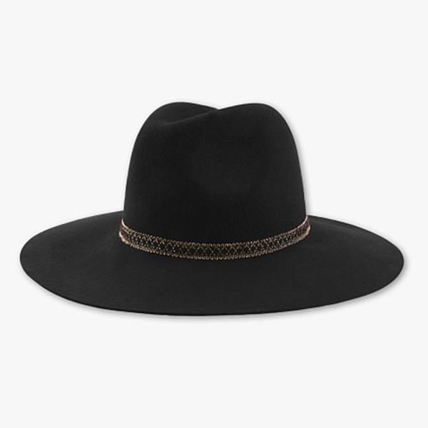 chapeau en laine noir c&a