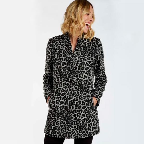 manteau leopard face