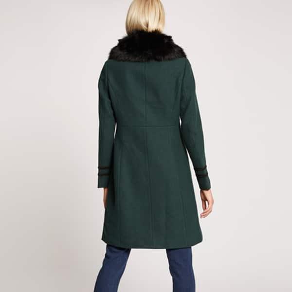 manteau col fourrure morgan dos