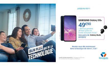 Le Samsung Galaxy S10e à 49,90€ + 8€/mois chez Bouygues Telecom - Saint-Sebastien Nancy