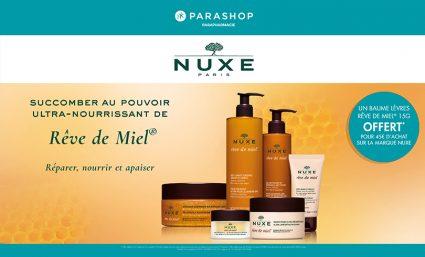 1 baume à lèvres offert dès 45€ d'achat de produits Nuxe chez Parashop - Saint-Sebastien Nancy