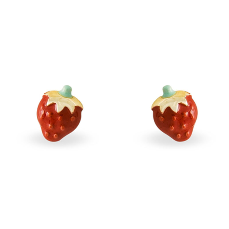 boucles d'oreilles fraises histoire d'or
