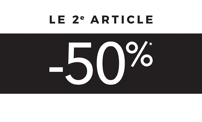 #BLACKFRIDAY : -50% sur le second article chez Etam