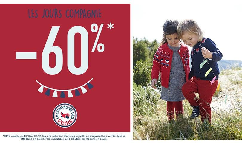 Les jours Compagnie : -60% sur une sélection d'articles chez La Compagnie des Petits