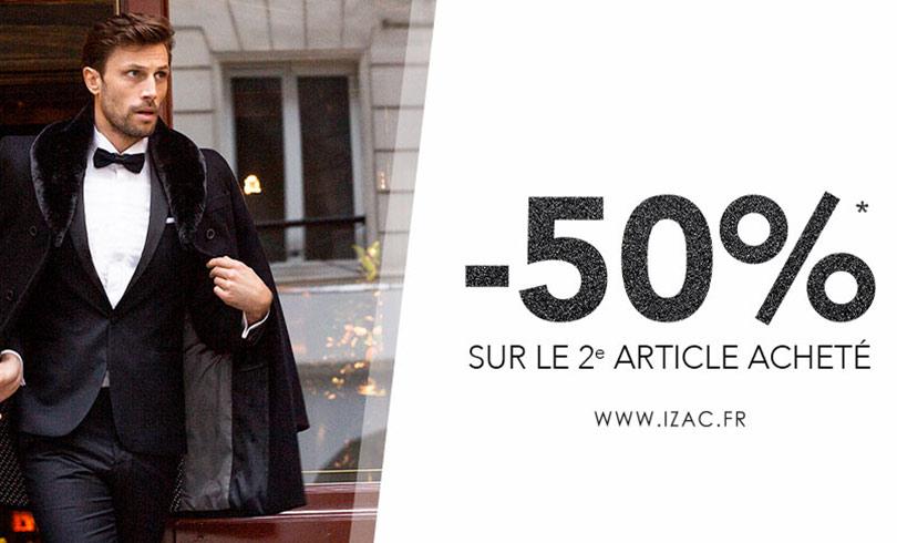 Izac -50% sur le 2ème article