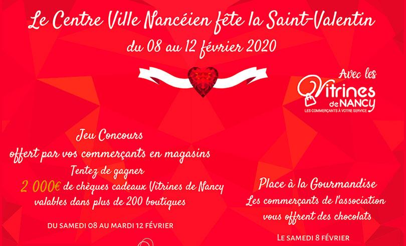 Le Centre ville de Nancy fête la Saint-Valentin !