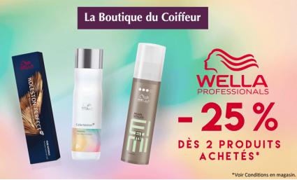-25% sur la marque Wella - Saint-Sebastien Nancy