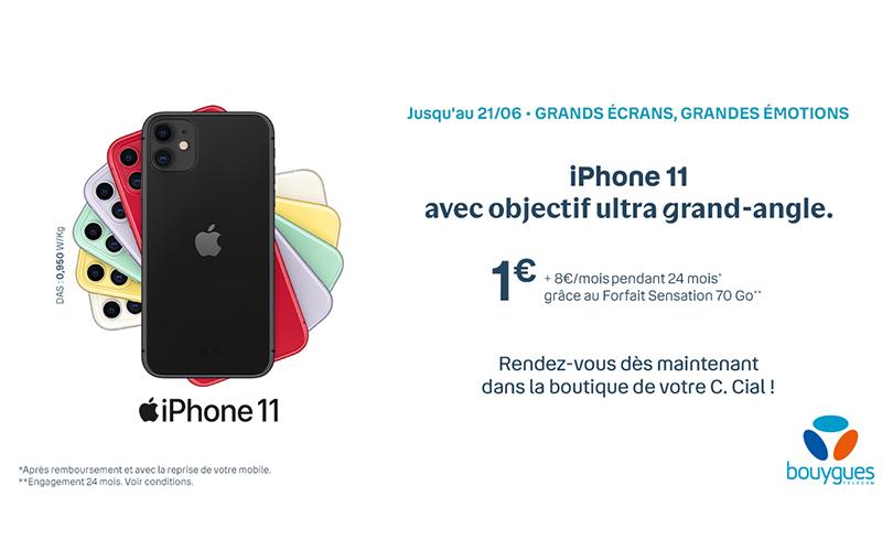 Profitez de l'offre sur l'iphone 11 chez Bouygues Telecom