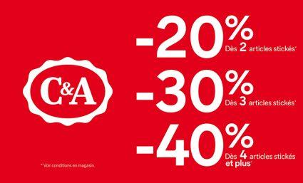Profitez des prix doux chez C&A ! - Saint-Sebastien Nancy