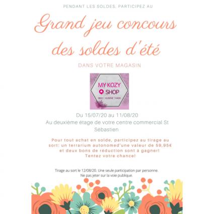 Jeu concours dans votre magasin «My Kozy Shop» - Saint-Sebastien Nancy