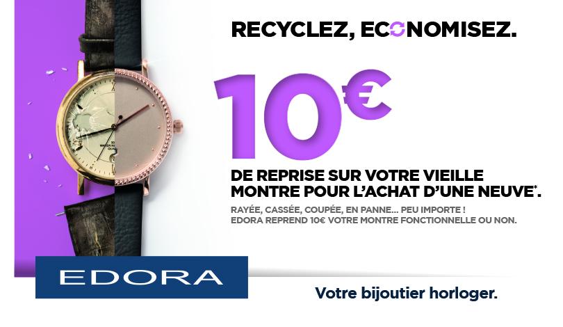 Recyclez votre montre chez Edora