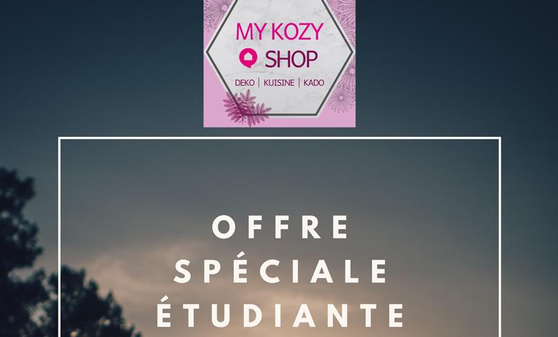 Offre Spéciale étudiants chez My Kozy Shop