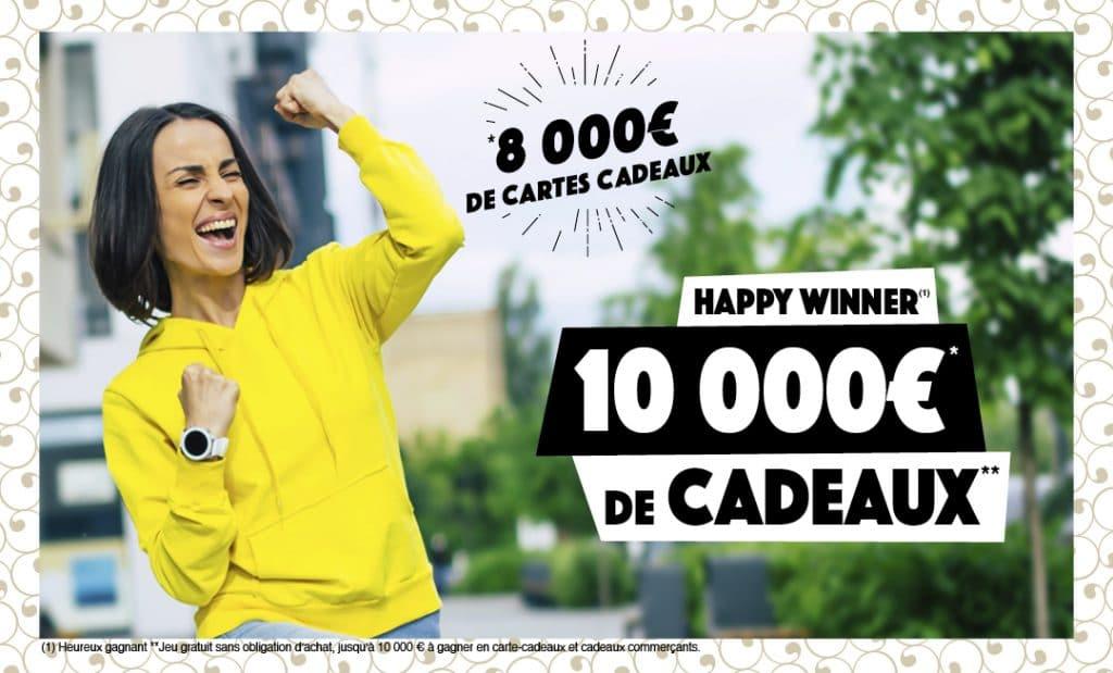 Les jours Happy Winner au centre commercial
