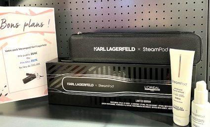 Promotion sur le pack Steampod x Karl Largerfeld chez Bleu Libellule - Saint-Sebastien Nancy