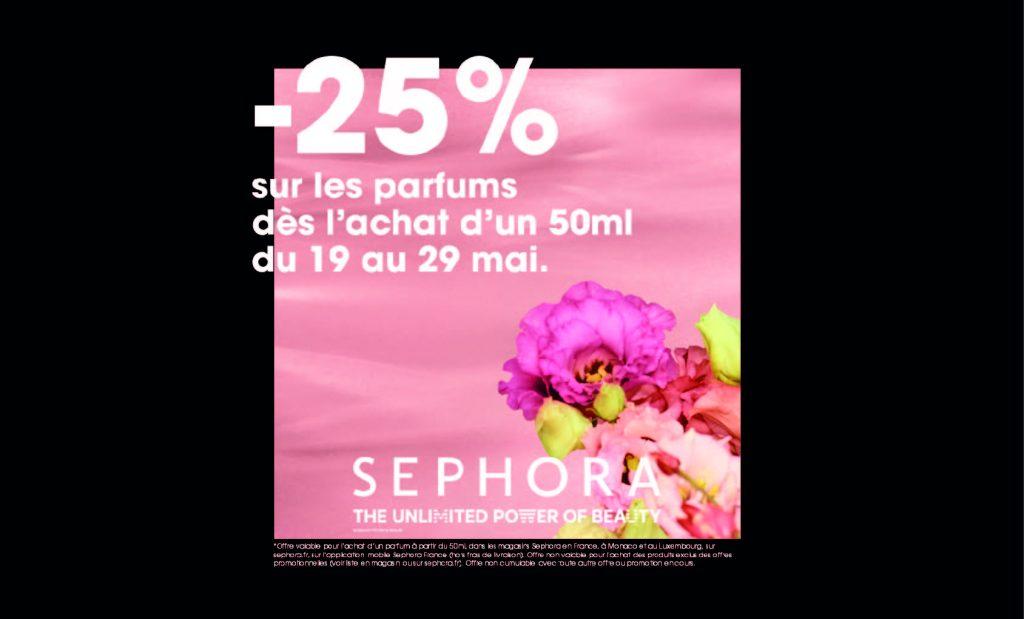 -25% sur les parfums chez Sephora