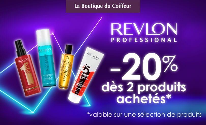 Revlon – notre sélection à -20% chez La Boutique du Coiffeur