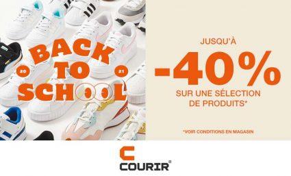 """Offre """"Back to School"""" avec Courir - Saint-Sebastien Nancy"""