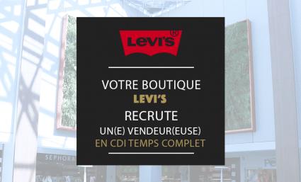 La boutique Levi's Store recrute ! - Saint-Sebastien Nancy