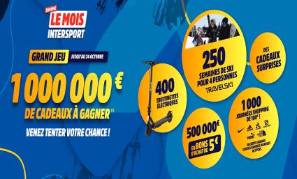 Le mois Intersport : 1 000 000 € de cadeaux a gagner ! - Saint-Sebastien Nancy