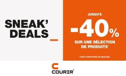 Offre Sneak'Deals chez Courir ! - Saint-Sebastien Nancy